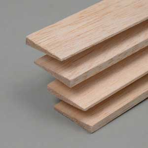 Balsa Trailing edges symm. 8x30x1000mm