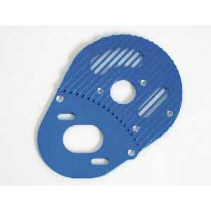 B4 Alloy Motor Plate 3mm Heat Fanning Design Blue