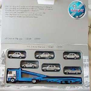 50 Jahre Herpa - 1949-1999 MB Actros Autotransporter + Cars (H0)