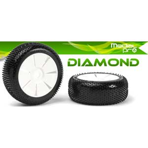 Diamond glued on white spoke rims LIQUIDATION
