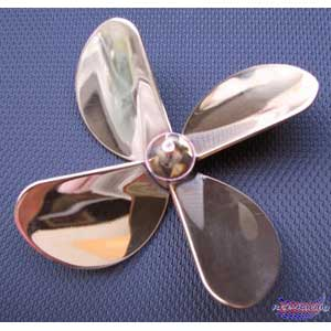 4 blades Brass Propeller D=30mm Left M4