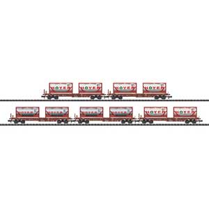 DB AG Set 5 Hoyer Deep Well Flat Cars (N)