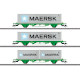 SJ Type Lgns Container Flat Car Set (H0)